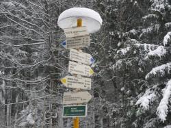 Góry Opawskie - pierwsze oznaczenie szlaku