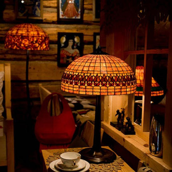 Jerzy Sarkowicz - drewniana lampa