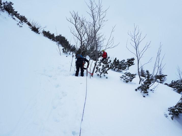 Kurs Turystyki Zimowej - Punkty asekuracyjne